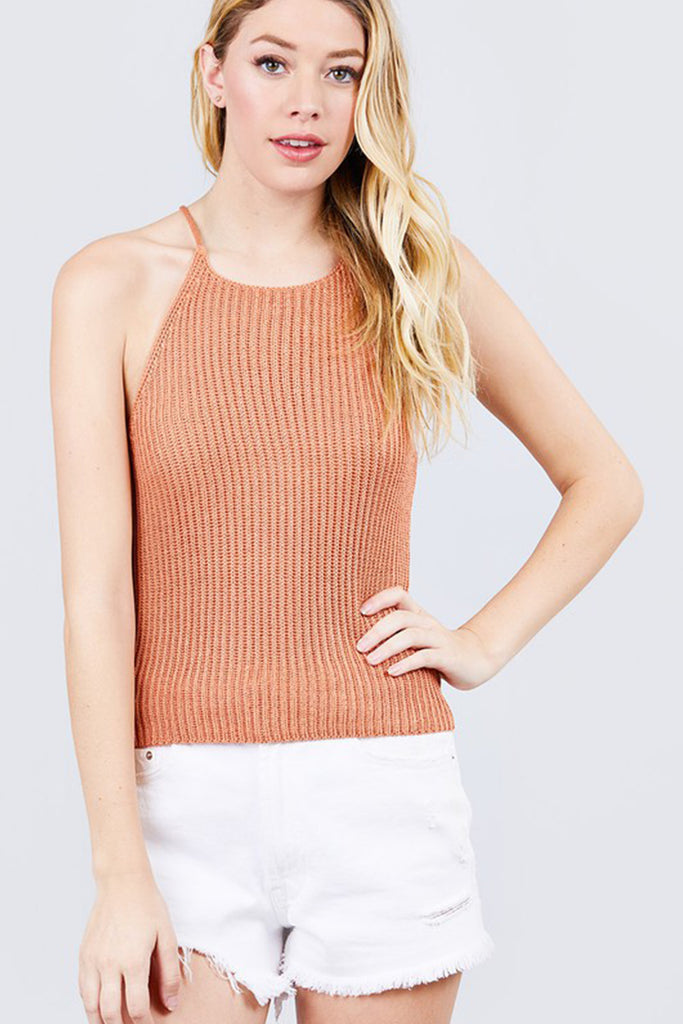 Relaxed Racerback Sweater Top