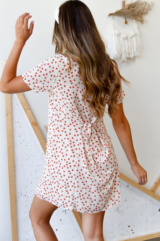 Right Where You Are Floral Dress