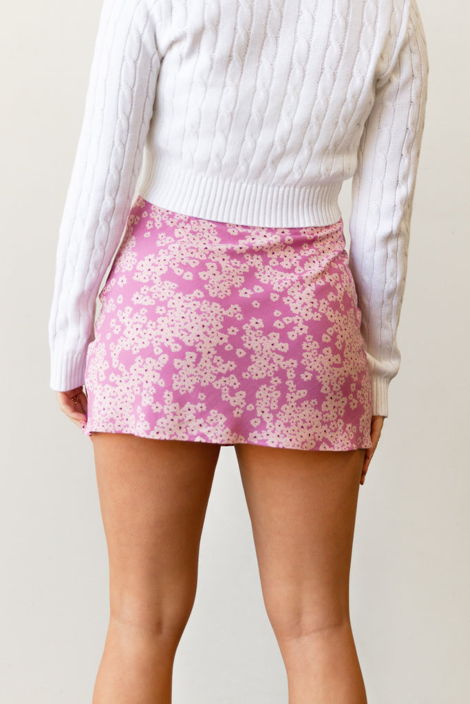 Be There Floral Mini Skirt