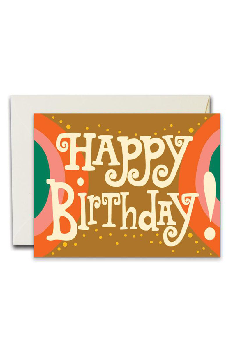 Happy Birthday Arches Greeting Card by For Good