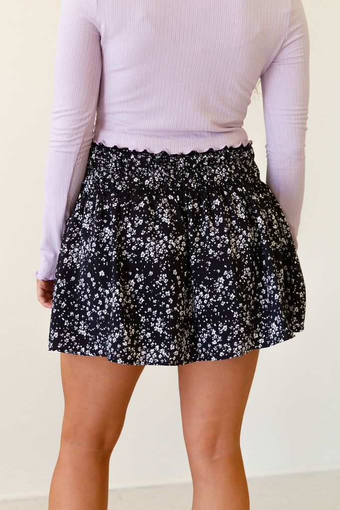 Old Love Floral Mini Skirt by For Good