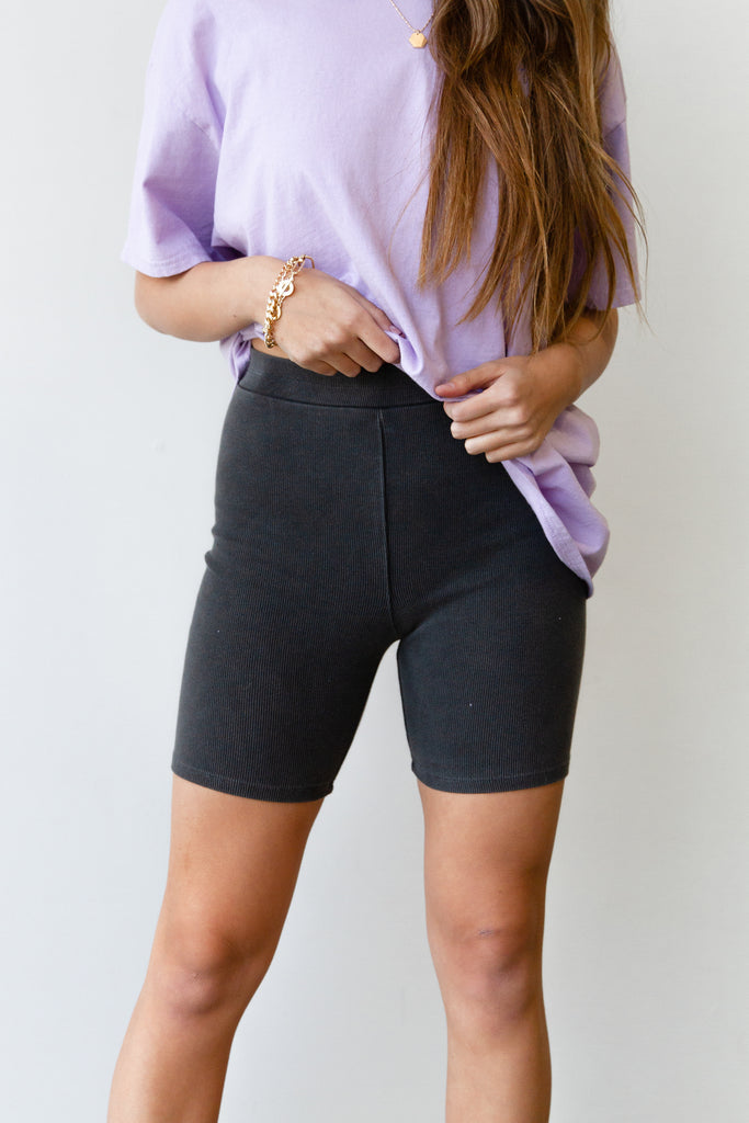 Forever Fun Ribbed Biker Shorts