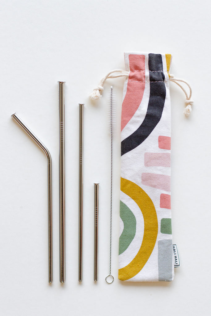 six piece straw set