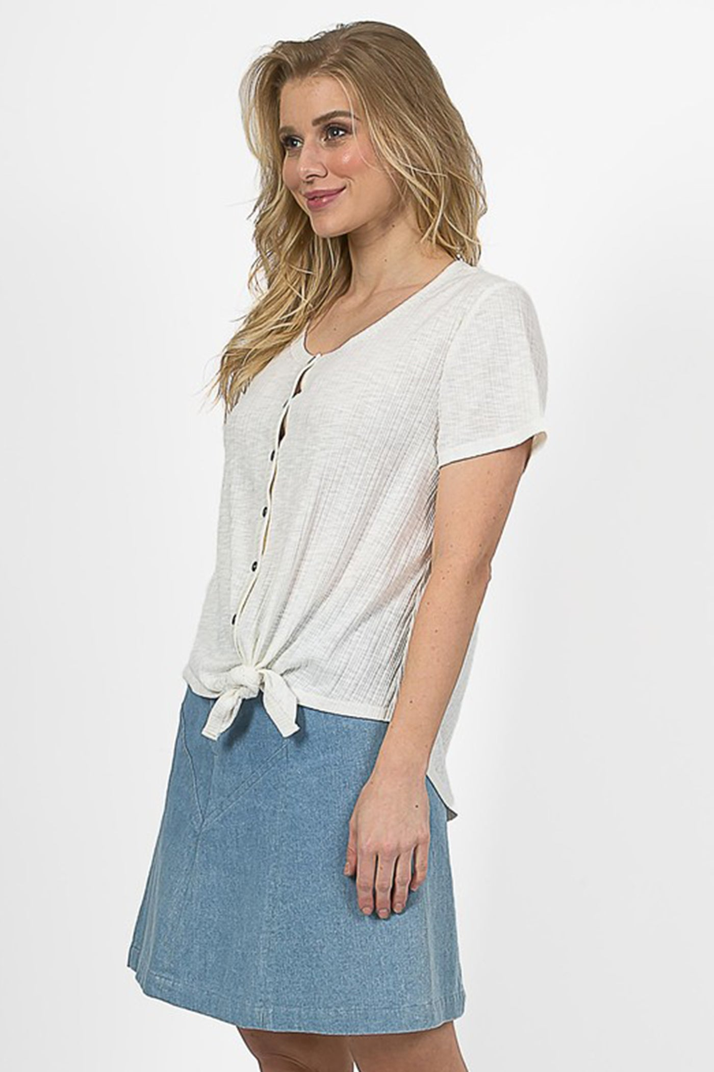 Break Your Heart Front Tie Top