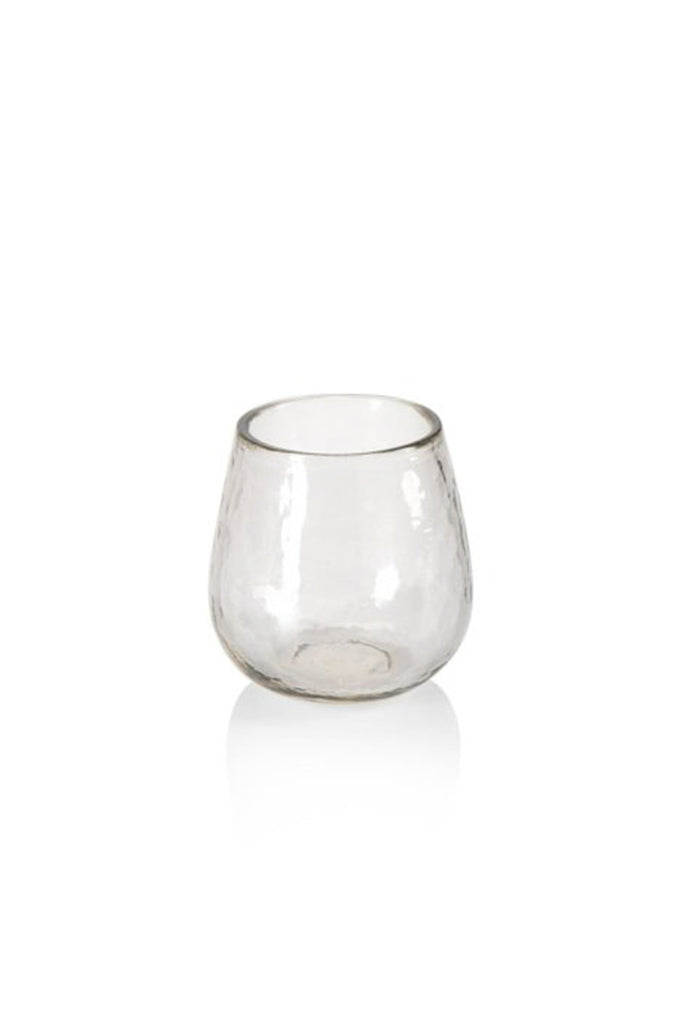 clear textured wine glass