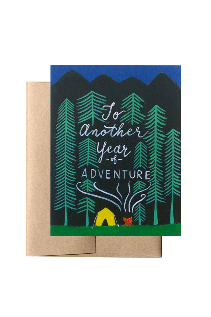 Adventurous Year Greeting Card