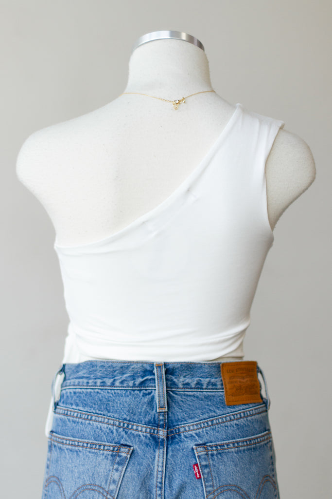 The Mellow One Shoulder Crop Top