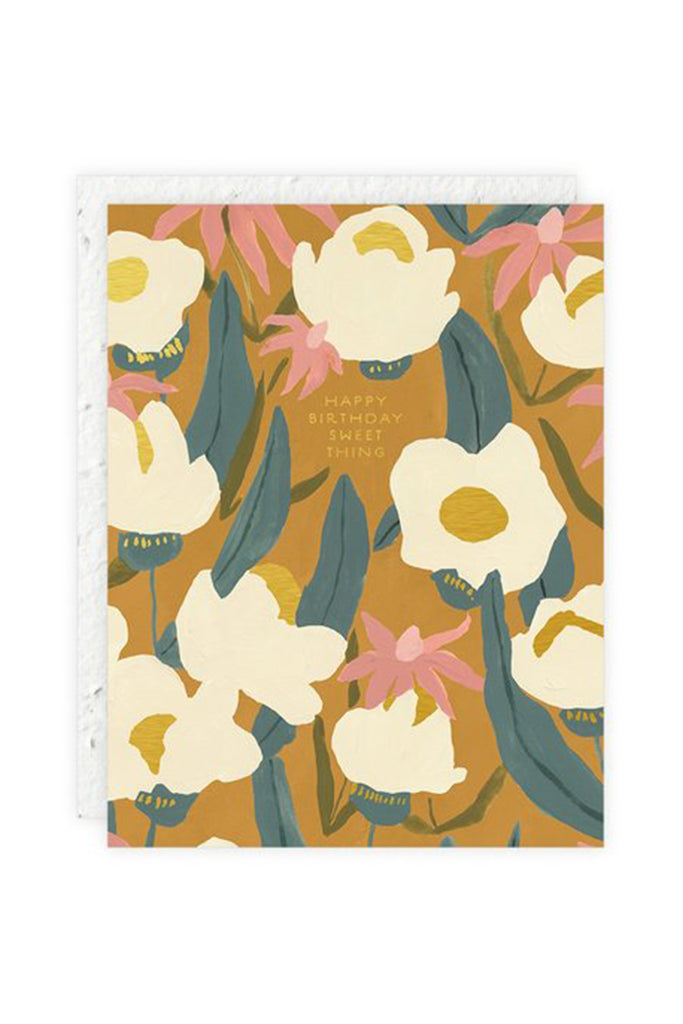 Sweet Thing Floral Birthday Card by Seedlings