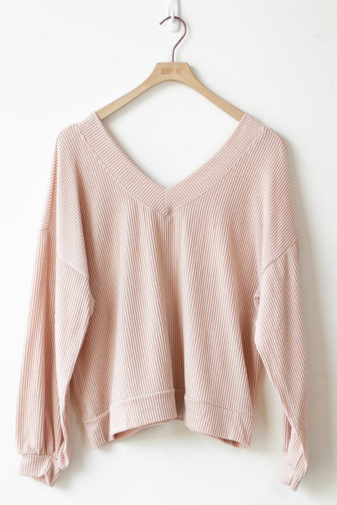ribbed natural sweater