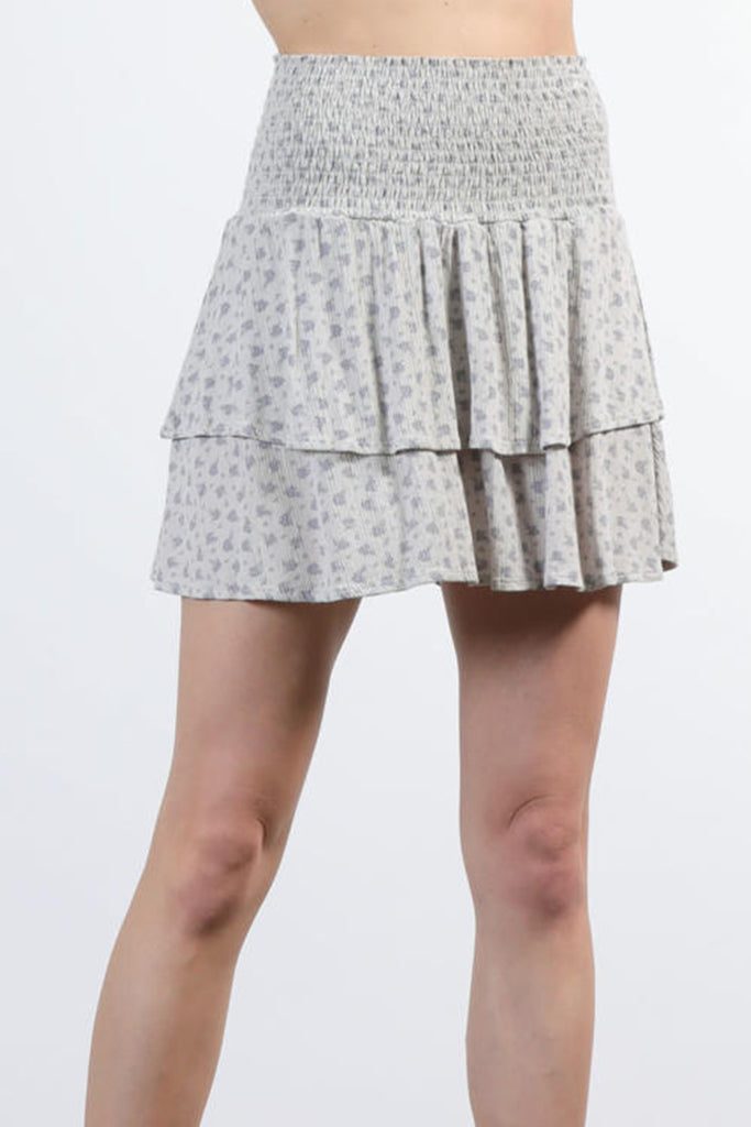 Our Time Is Short Floral Skirt