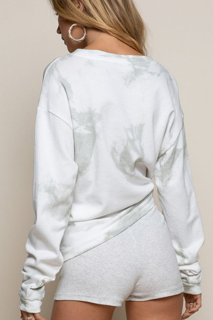 grey tie dye sweater