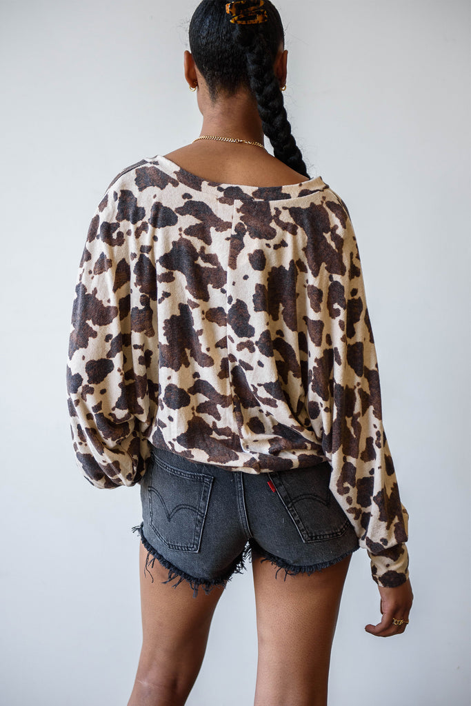 These Times Animal Print Top