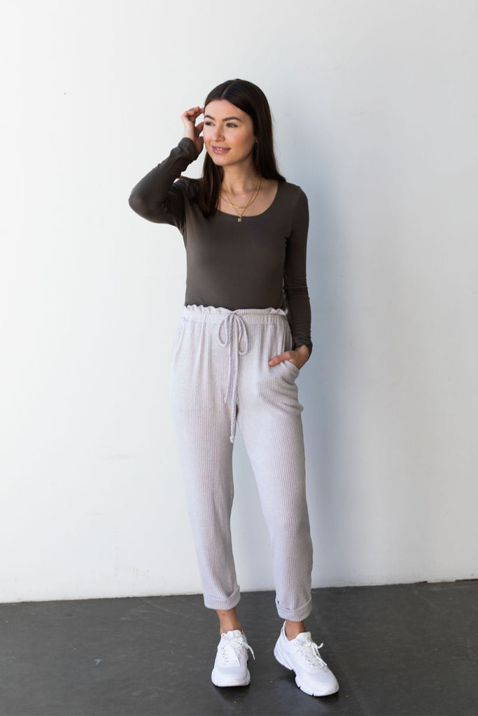Autumn Days Ribbed Joggers By For Good