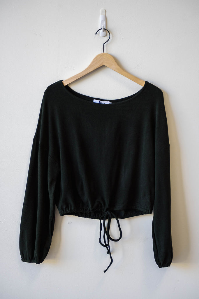 cinched long sleeve top