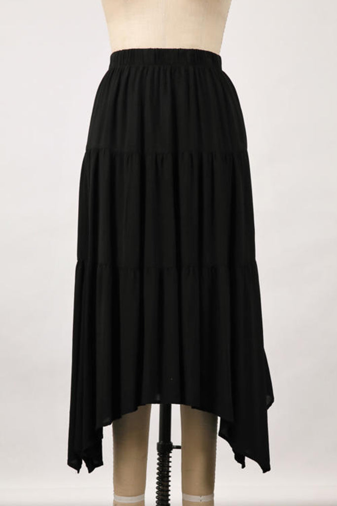 Black Ruffle Skirt