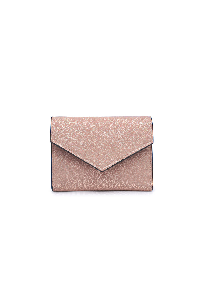 pink trifold wallet