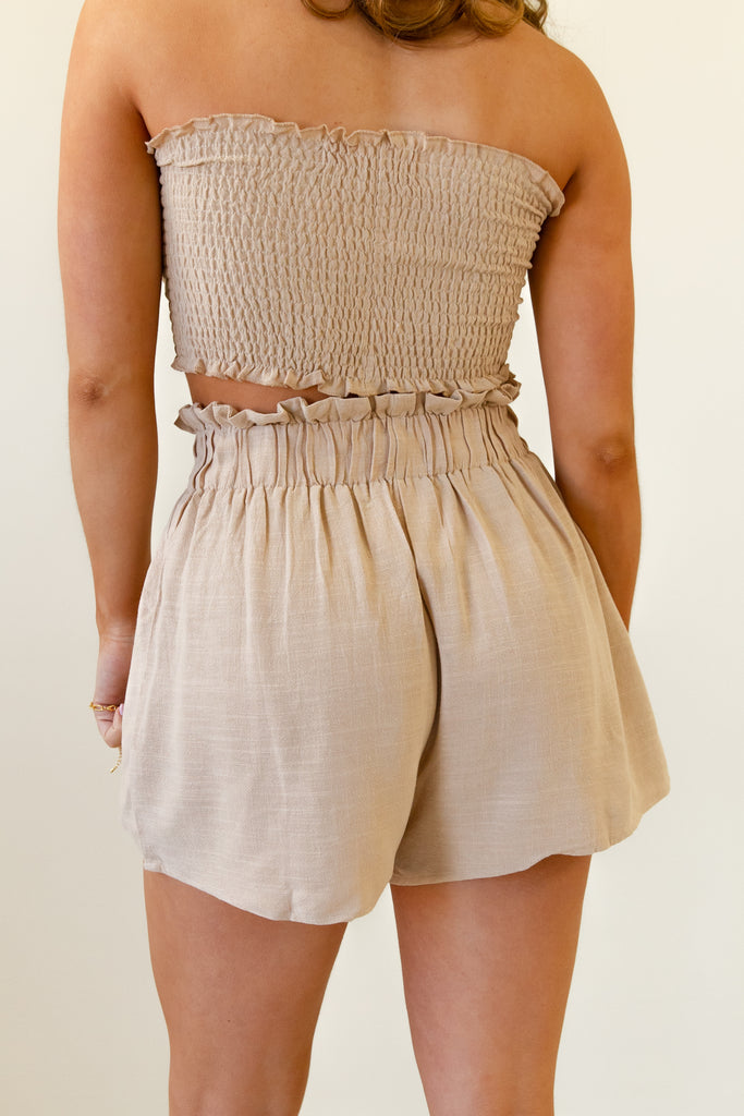 Sun Seeking Paperbag Waist Shorts