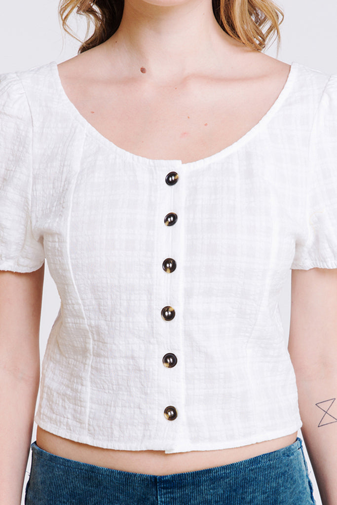 One Time Button Top