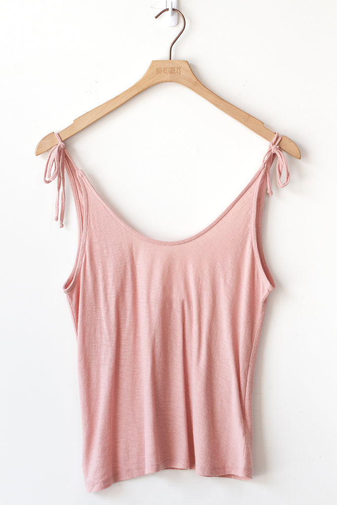 pink self-tie cami top