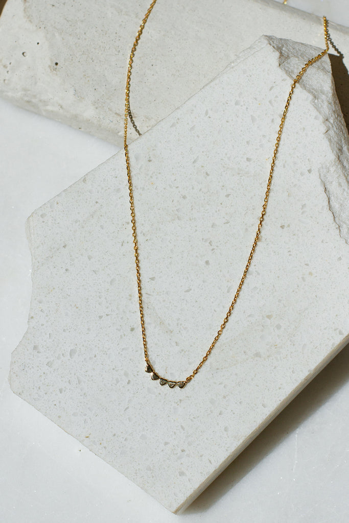 Tiny Hearts Gold Dainty Necklace