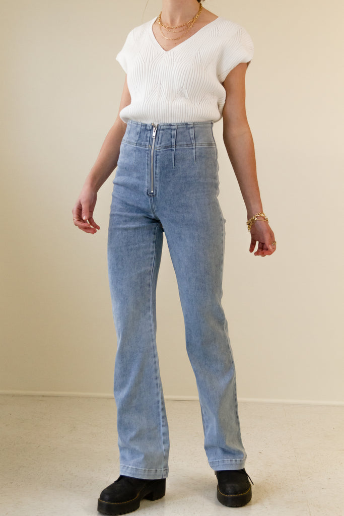 All Day Denim Flare Pants