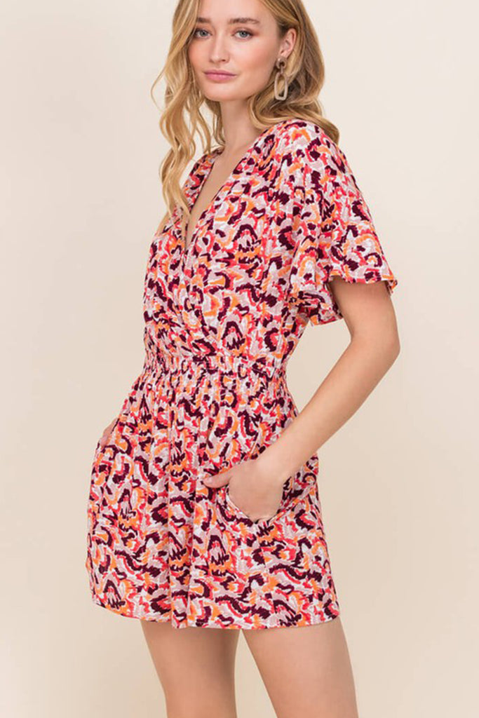 Look Pretty Floral Romper by For Good