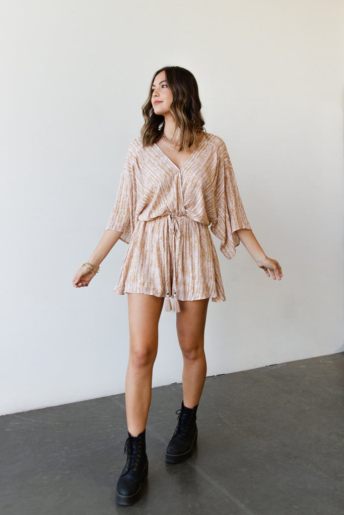 Moved On Kimono Romper by For Good