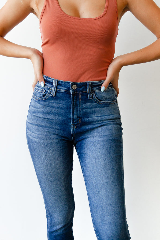The Olivine High Rise Crop Skinny by Nectar Premium Denim