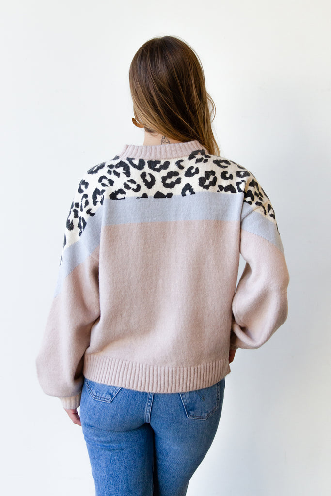 So Long Animal Print Sweater By For Good
