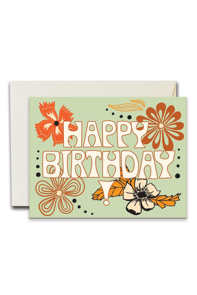 Happy birthday flowers greeting card by for good nectar clothing happy birthday flowers greeting card by for good izmirmasajfo