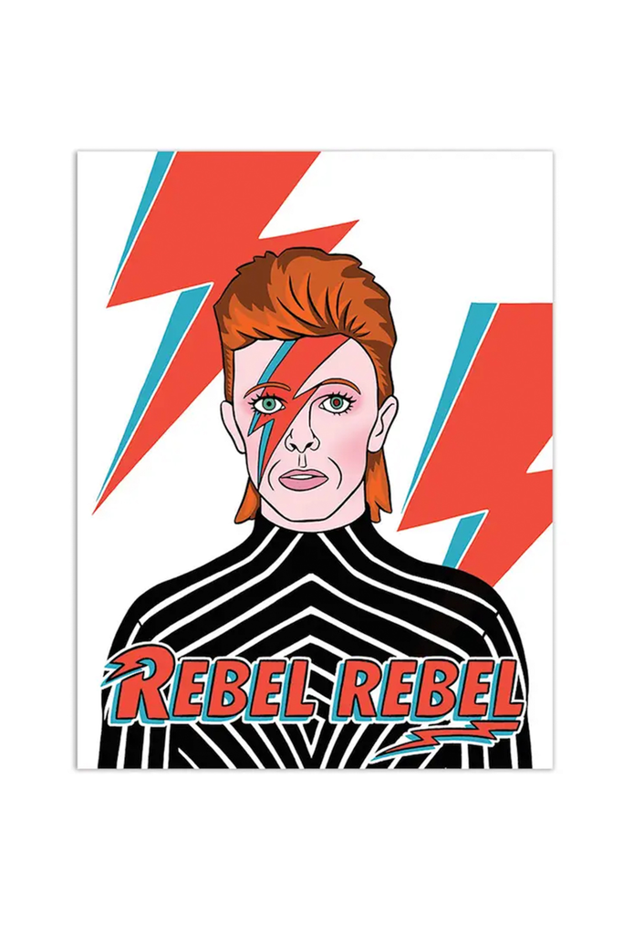 Daivd Bowie Rebel Card By The Found
