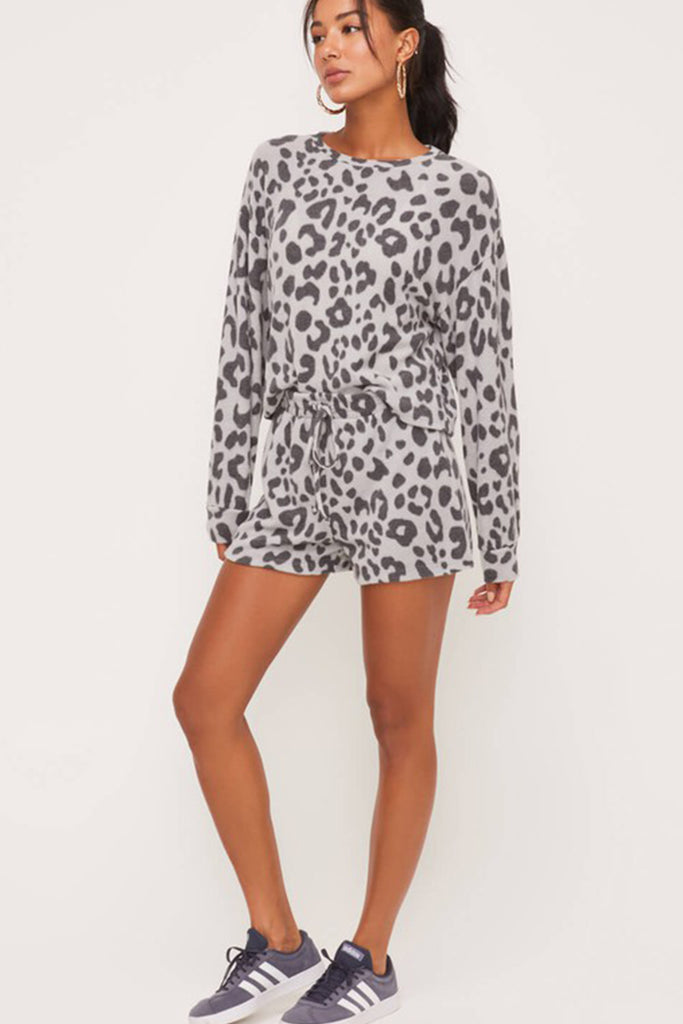 Wild About You Animal Print Sweater by For Good