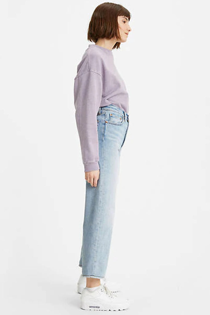 light wash straight ankle jeans by levi's