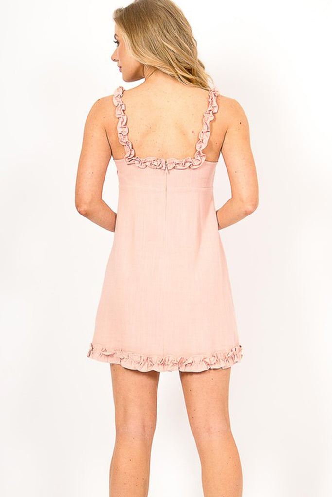 Let's Go Ruffled Dress