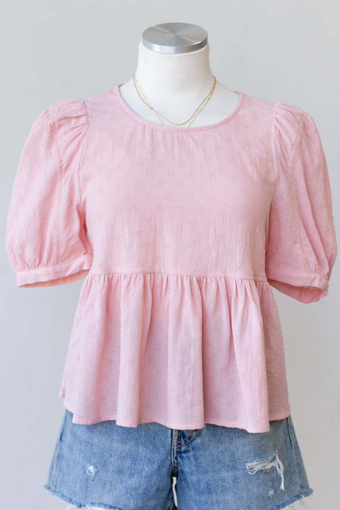 Accompany Me Short Puff Sleeve Top