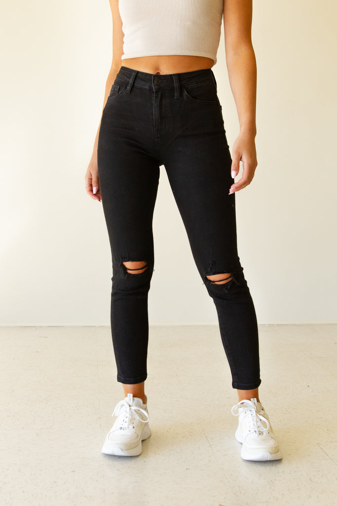 The Rockie Mid Rise Skinny Jeans by Nectar Premium Denim