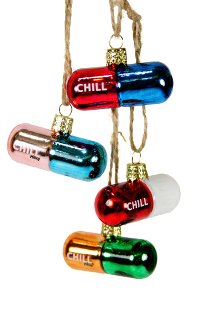 chill pill ornamnet