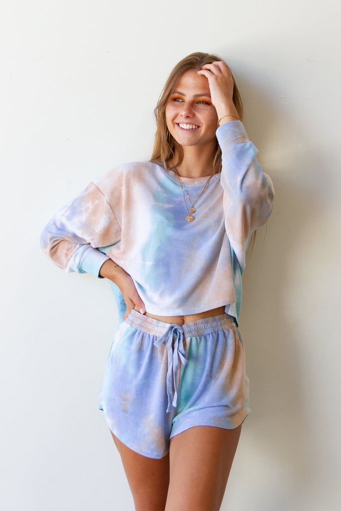 Easy Way Tie Dye Shorts By For Good