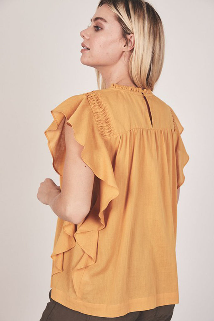Mustard Short Sleeve Top