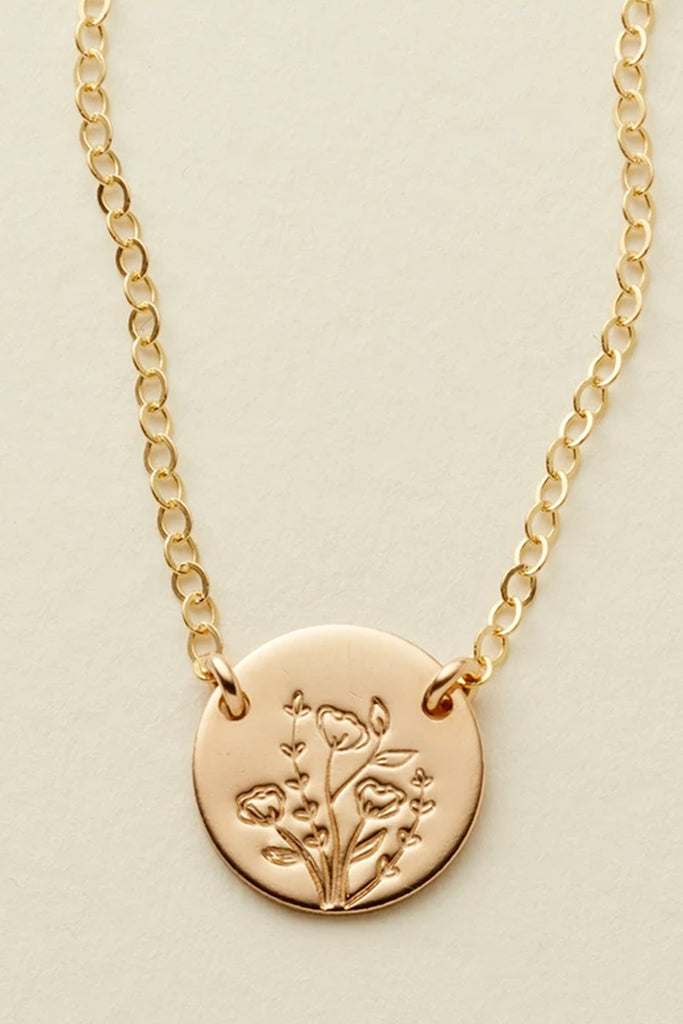 Wild Bloom Mini Zola Disc Necklace by Made by Mary