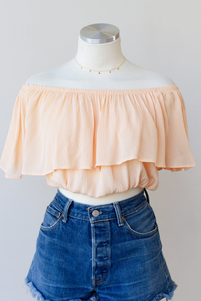 By Your Side OTS Crop Top
