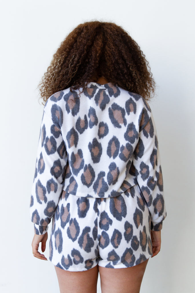 Just Stay Animal Print Sweater