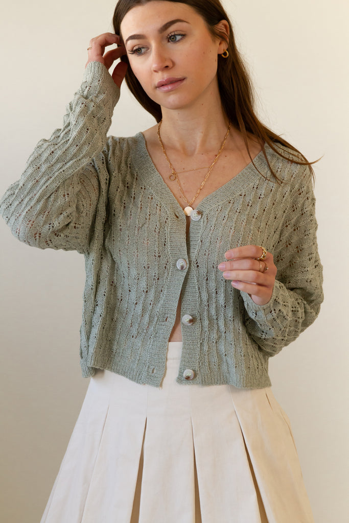 Missing Out Crochet Crop Cardigan