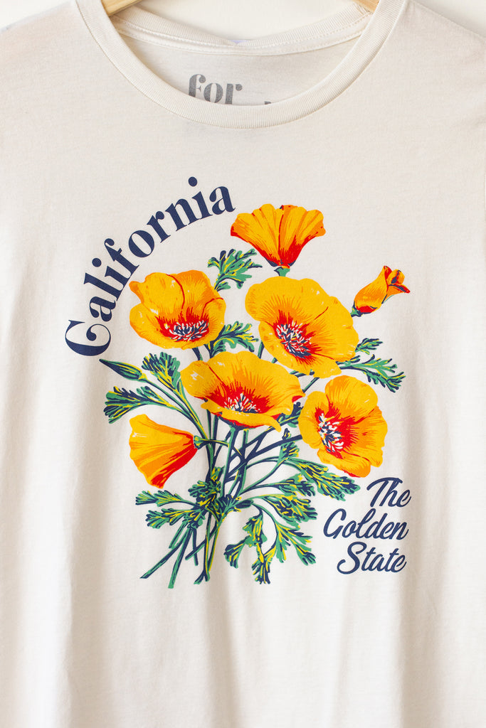 California Poppy Grahpic Tee by For Good