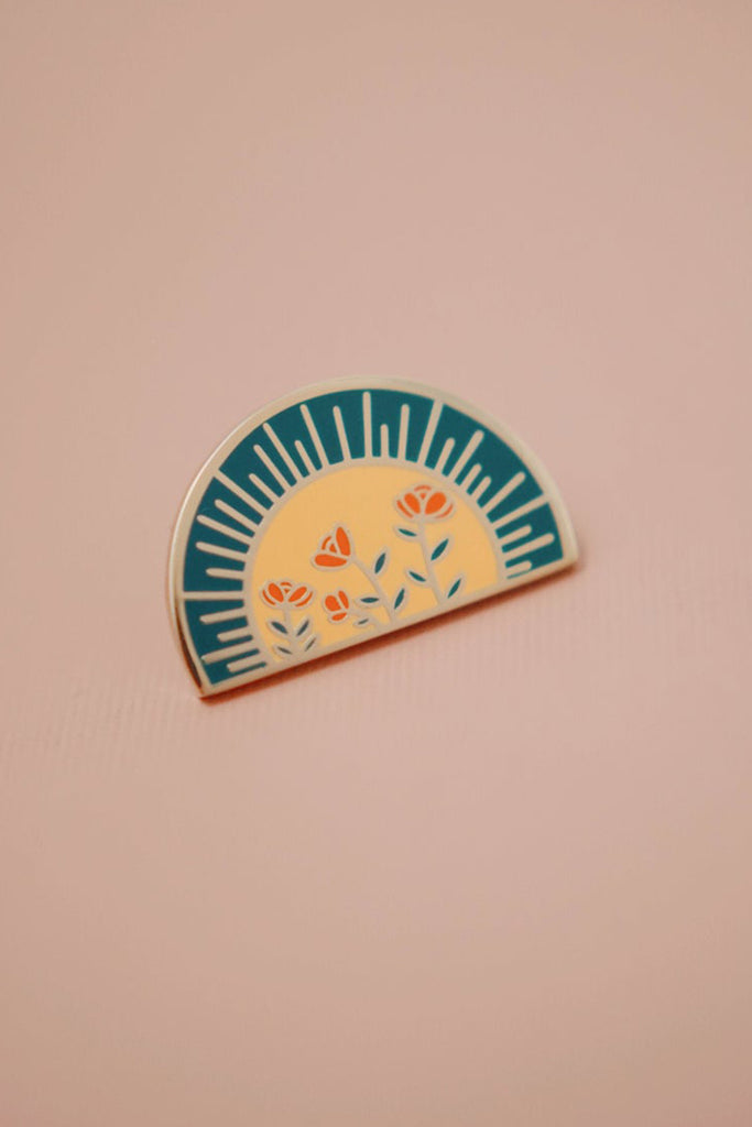 Sun & Rosas Pin by For Good
