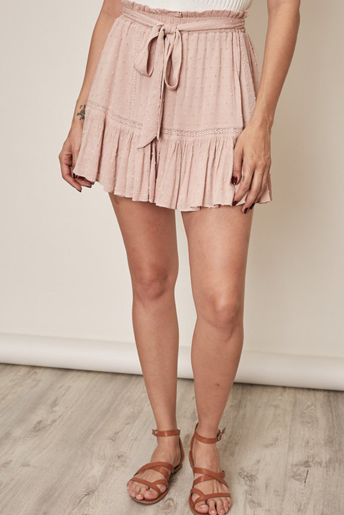 Mauve Mini Skirt