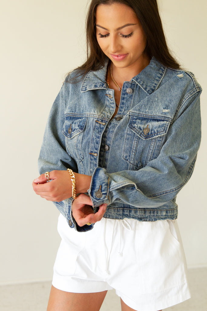 Hold Us Denim Jacket by For Good