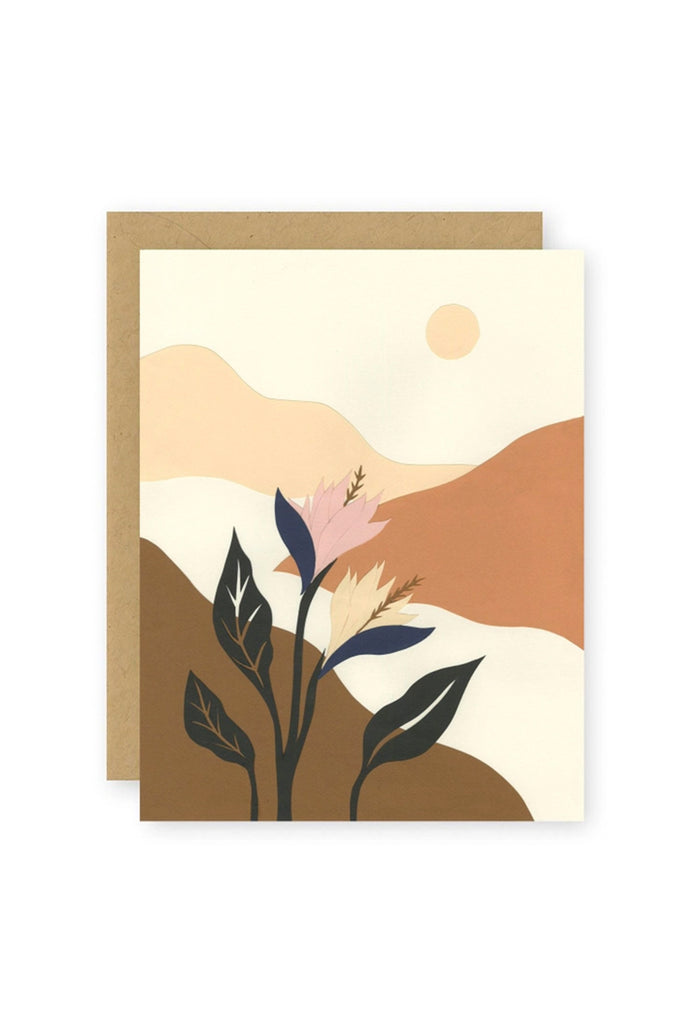 A Walk In The Valley Greeting Card