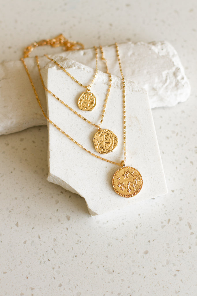 Triple Layer Coin Necklace