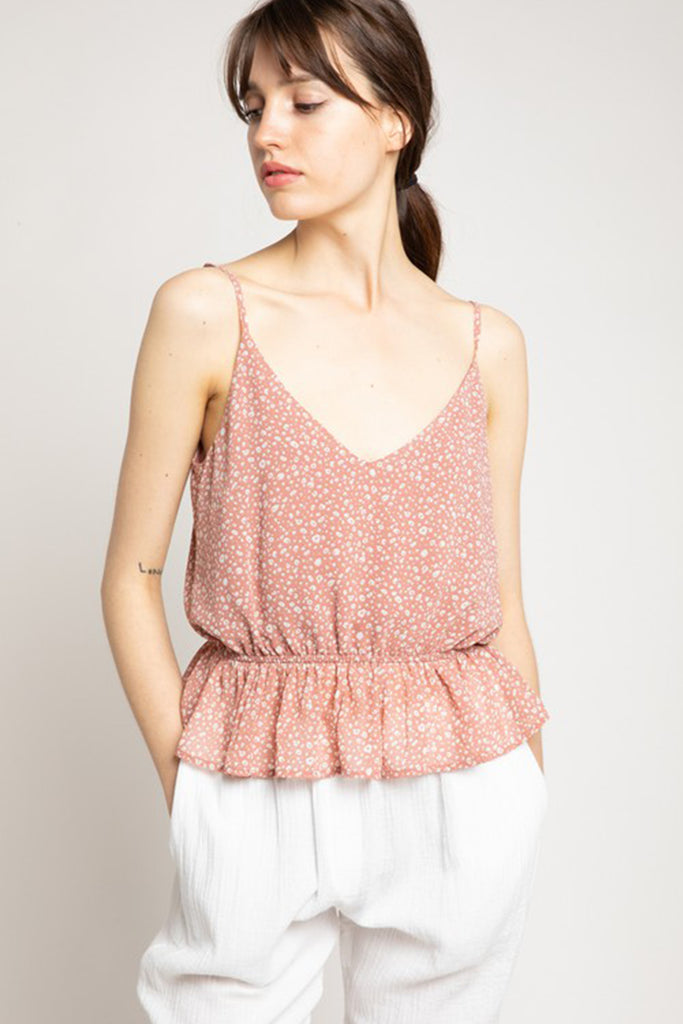 Pink Animal Print Cami Top